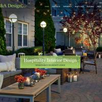 Website design for KMC&A Design, an interior design firm in Jacksonville FL