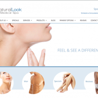 Healthcare Website Design for Natural Look Medical Spa including Mobile Responsive Programming