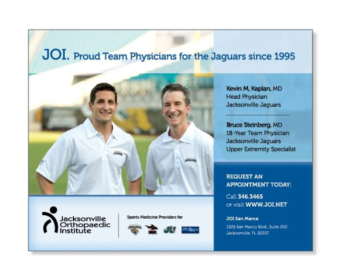 JOI half page ad design Team Physicians