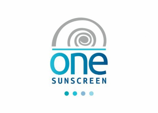 One sunscreen logo design