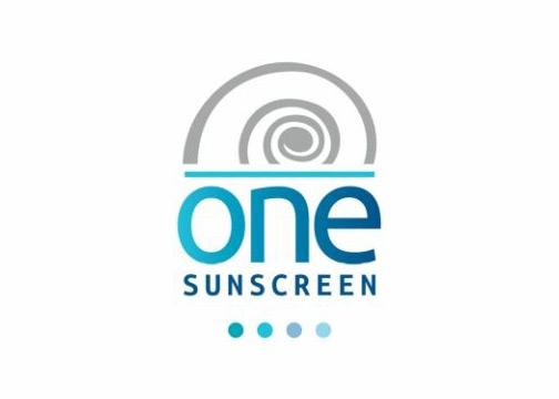 One sunscreen logo design