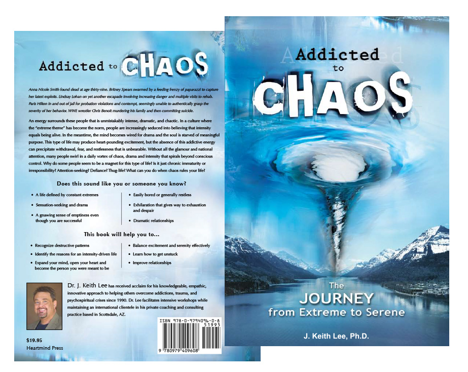 Addicted to chaos book cover design graphics