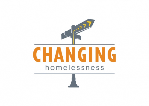 changing homelessness logo design
