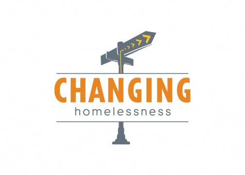 changing homelessness logo design