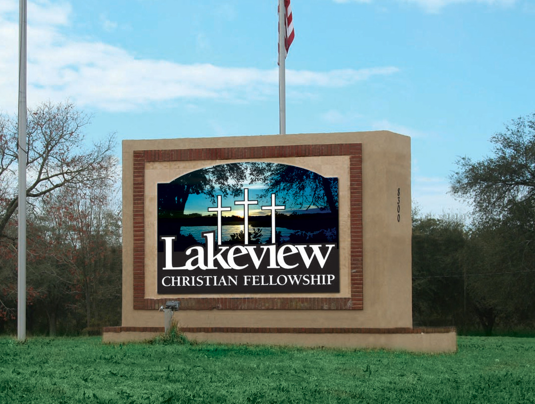 lakeview christian church sign design