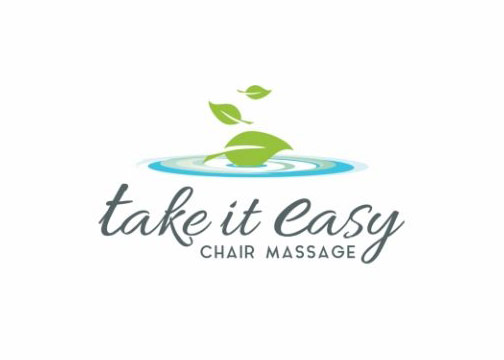 take it easy chair massage logo design