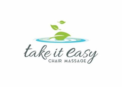 take it easy chair massage logo design