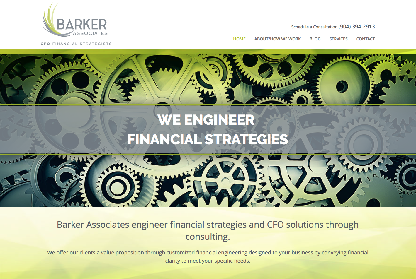 Barker Associates CFO Financial Strategists Website Design