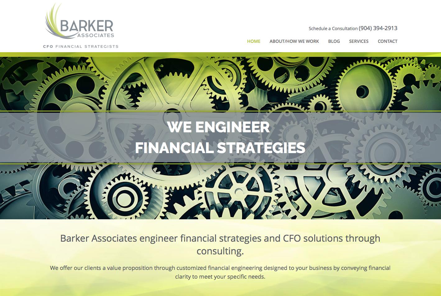 Barker Associates CFO Financial Strategists Website Design