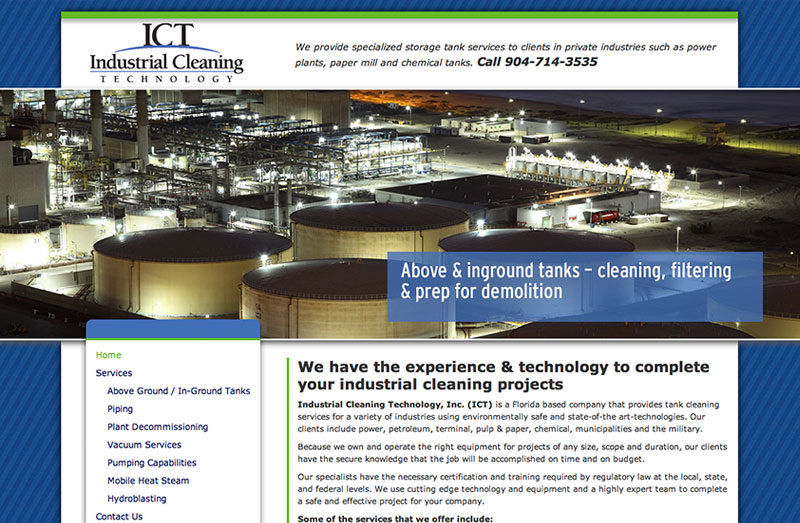 Industrial Cleaning Services Web