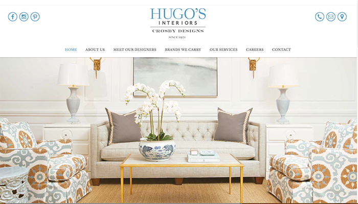 SEO for Furniture Store Hugos Interiors