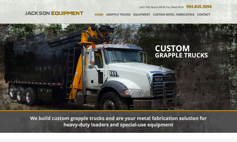 jackson equipment website design