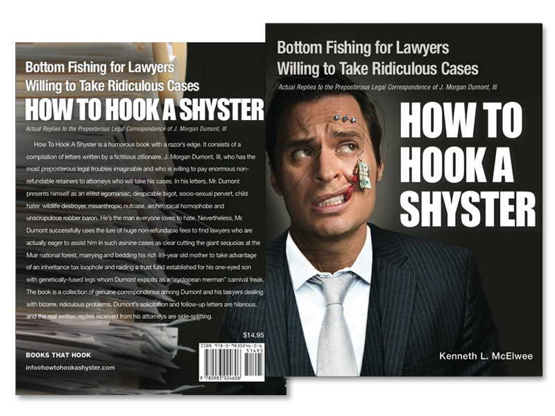 How to Hook a Shyster book cover design graphics