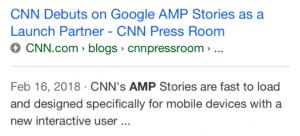 CNN is on AMP