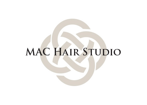 Mac hair studio logo design 1