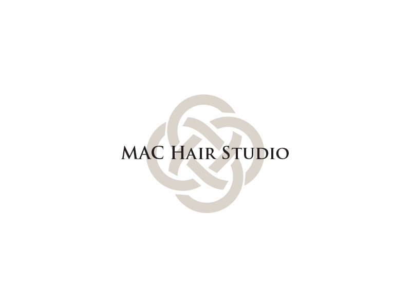 Mac hair studio logo design