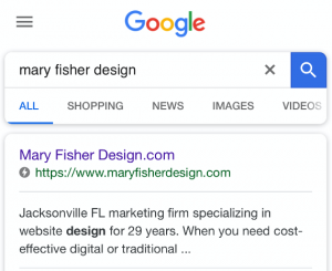 searching Mary Fisher Design AMP