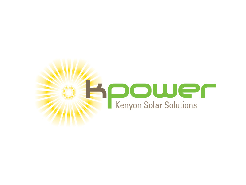 k power solution logo design