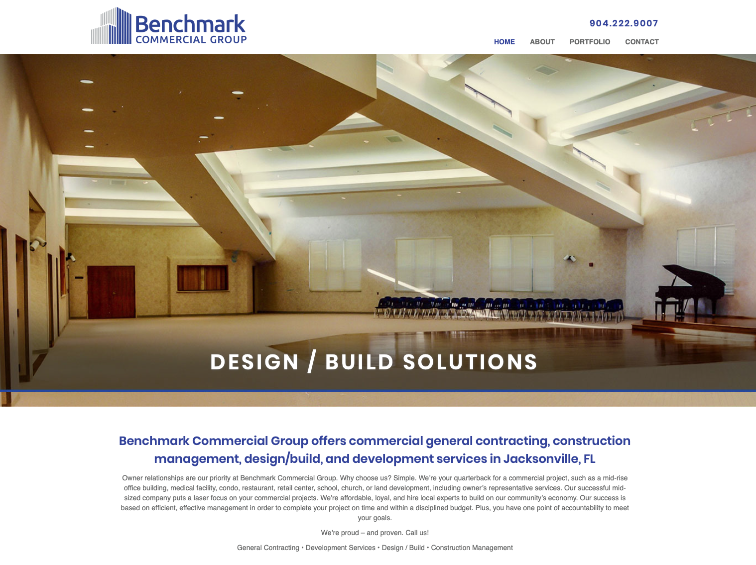 Benchmark Commercial Group website design
