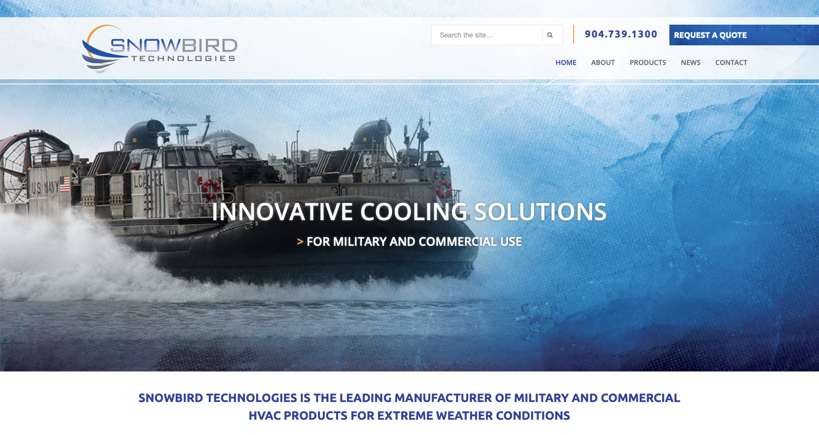 snowbird website design e1552944013948