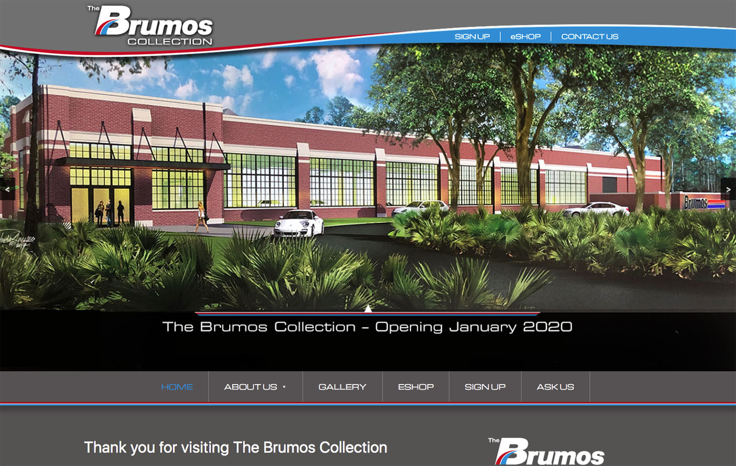 Brumos Collection Website Portfolio SS
