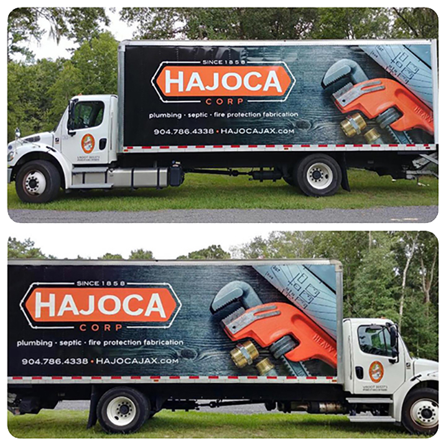 HAJOCA vehicle wrap design jacksonville