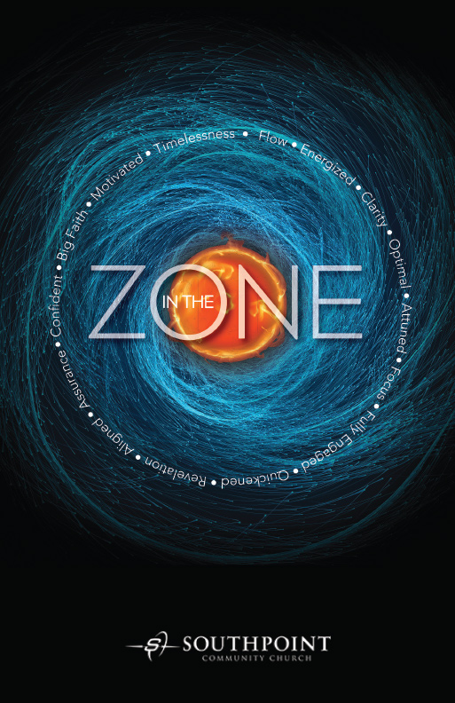 In the Zone church poster design jacksonville