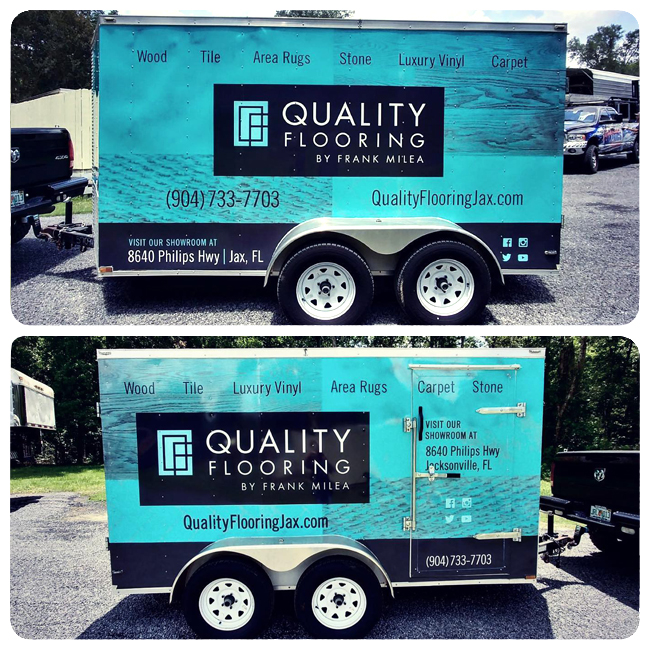 Quality Flooring vehicle wrap design jacksonville