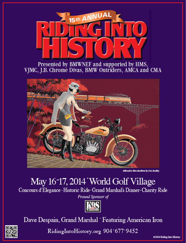 Riding Into History 15th Poster design
