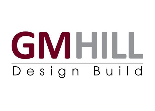gm hill design build logo design