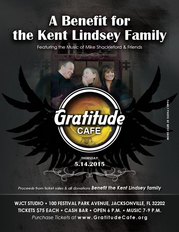 gratitude cafe non profit poster design