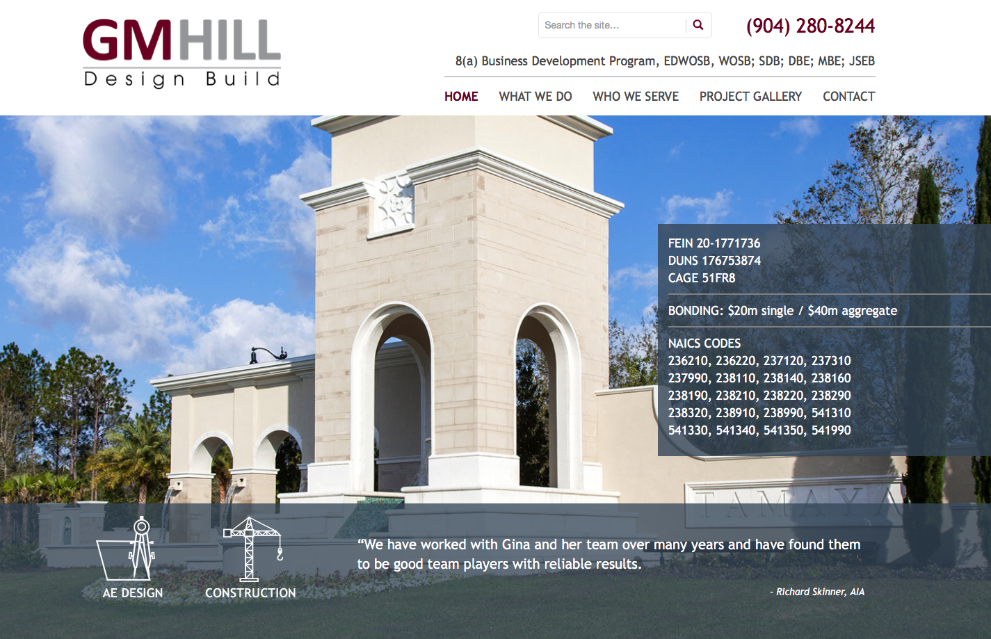 gm hill engineering website design