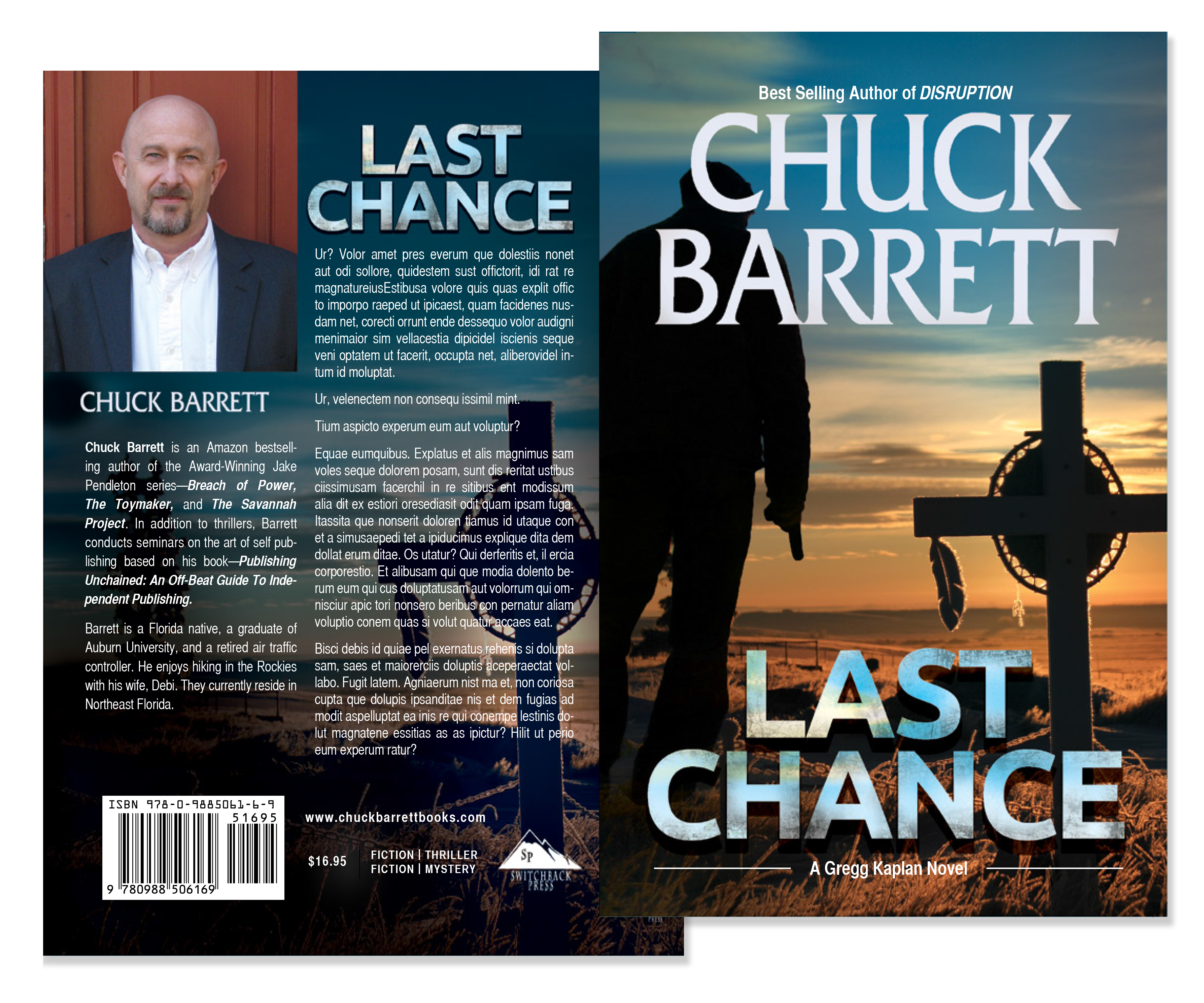 last chance chuck barrett book cover design