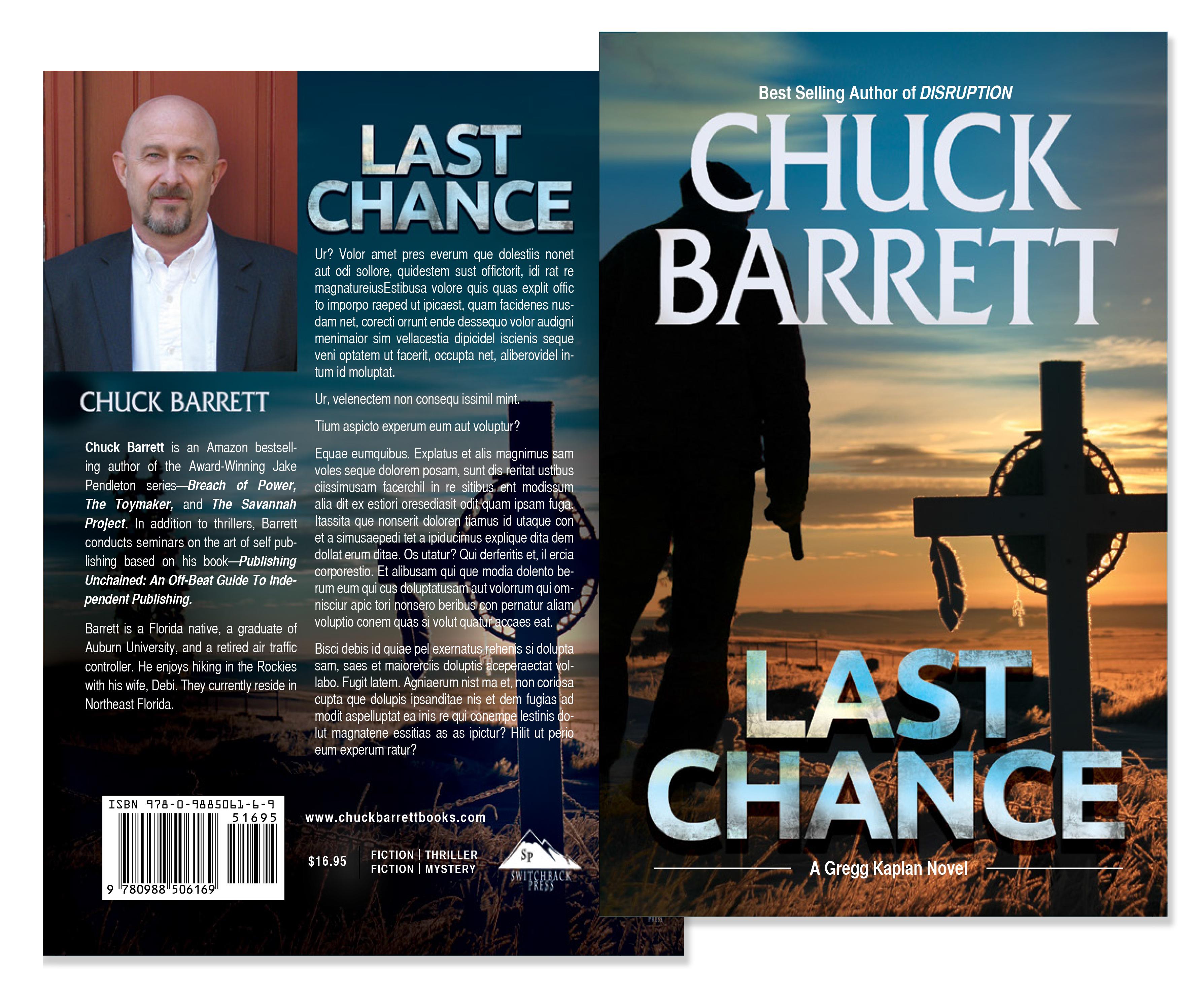 Last chance by chuck barrett book cover design