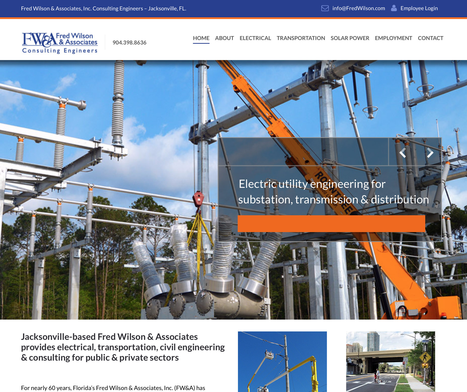 Fred Wilson and Associates Engineers website design