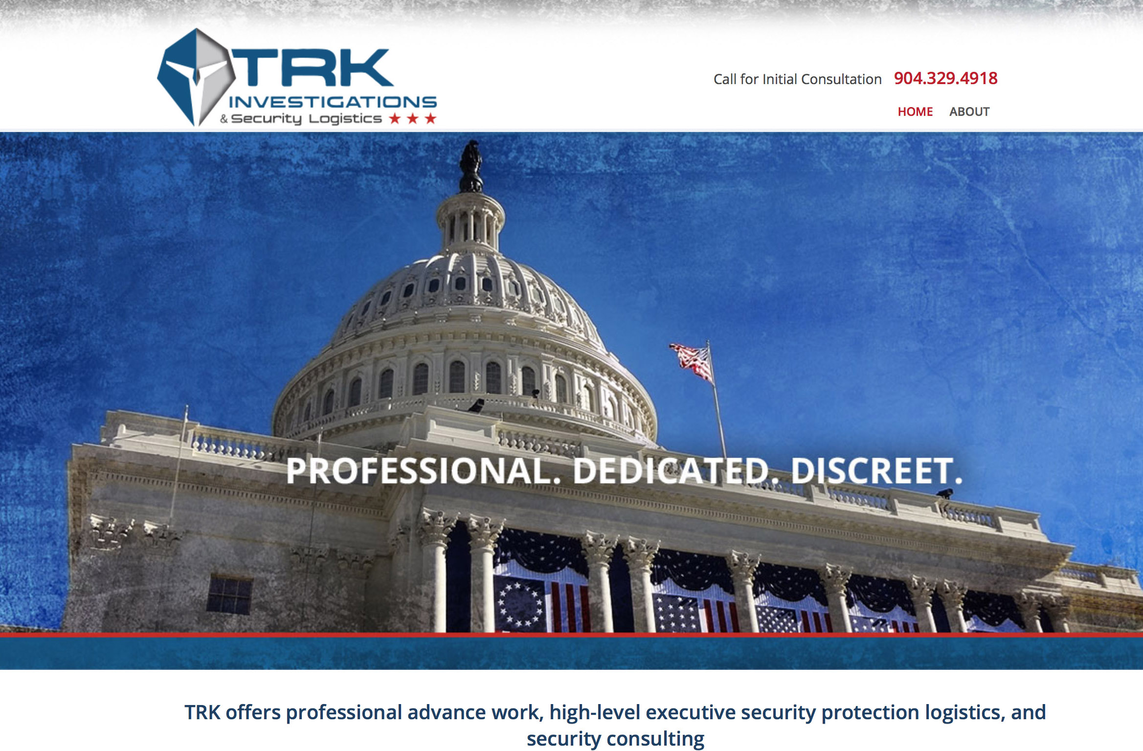 TRK investigations website design jacksonville 2