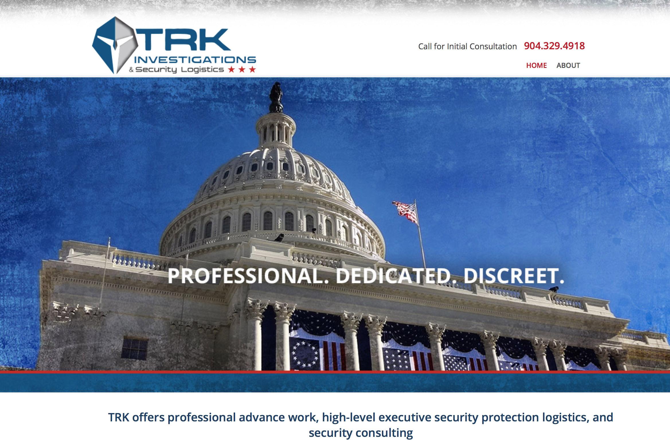 TRK investigations website design jacksonville 2