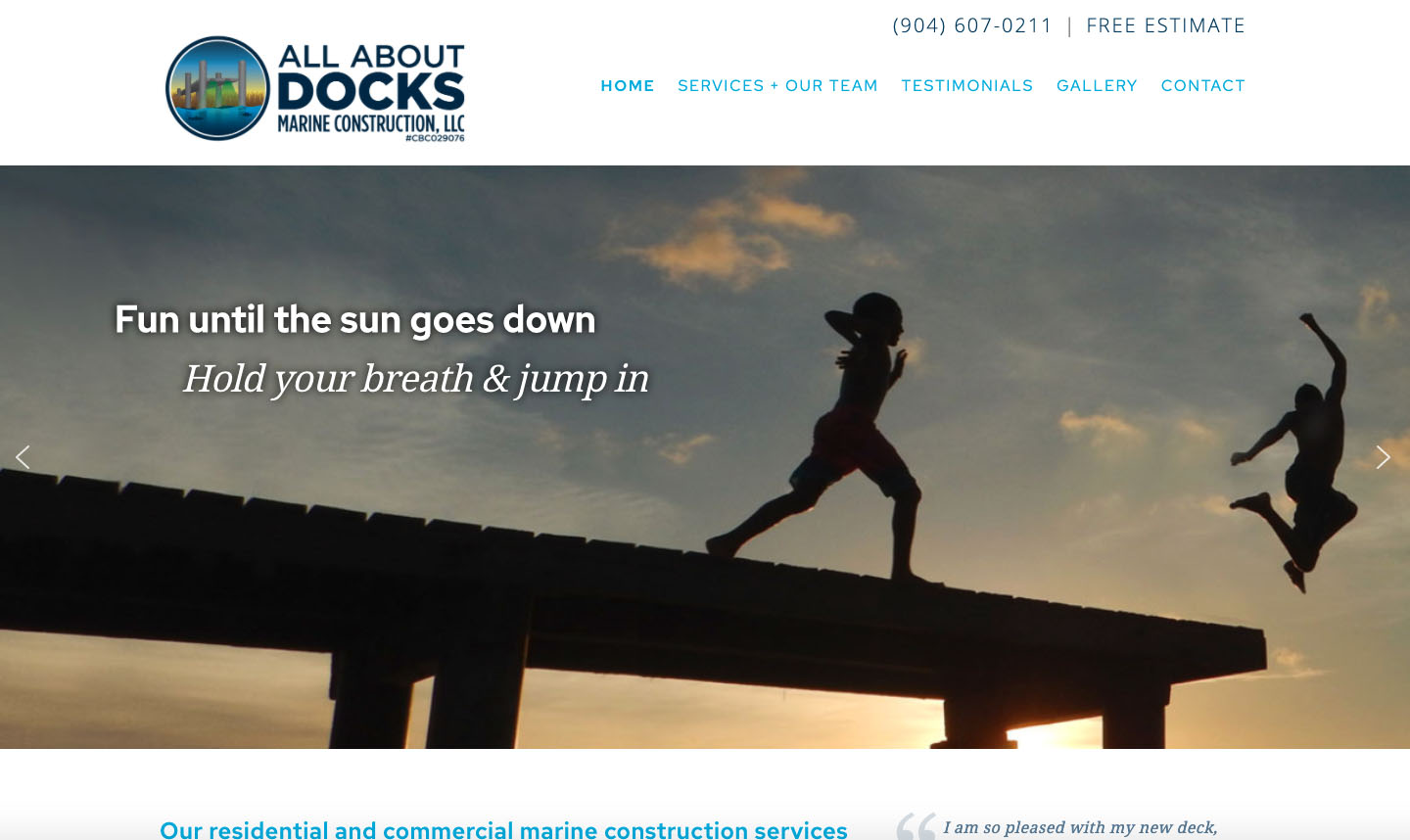 all about docks website