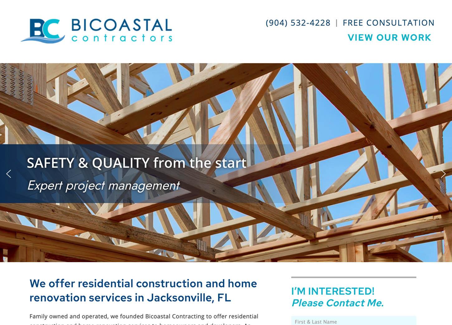 Bicoastal Contractors, Florida Construction, Jacksonville Residential Construction, Jacksonville Contractors, Carpentry Website, Builder, Construction website, Contractor Website, Contractors, Residential Construction, Commercial Construction